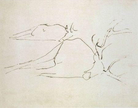 Radierung Und Aquatinta Beuys - Zirkulationszeit: Tote Hirsche