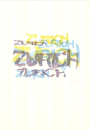 Lithographie Bury - Zurich