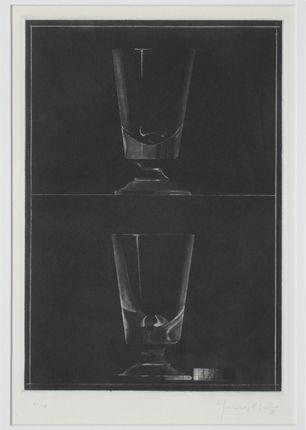 Aquatinta Hernandez Pijuan - Zwei Gläser